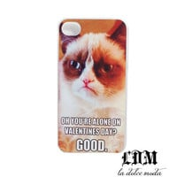 GRUMPY CAT VALENTINES day funny lol wtf humor hard plastic case iPhone 4 iPhone 4s iPhone 5 phone case