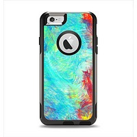 The Vibrant Colored Messy Painted Canvas Apple iPhone 6 Otterbox Commuter Case Skin Set