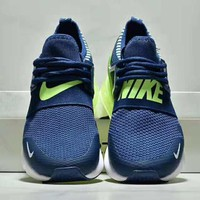 NIKE Air Max 270 New fashion letter hook print mesh sports leisure air cushion men shoes Blue