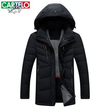 CARTELO Brand Men's Clothing 2017 New Arrival Parka Winter Warm Men Down Jackets High quality Slim Thick 80% Duck Casual Coats