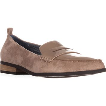 Dr. Scholls Eclipse Flat Penny Loafers, Putty Suede, 8 US / 38 EU