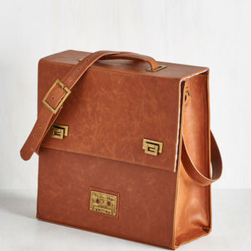 Music Vinyl Decision Record Case in Cognac by ModCloth