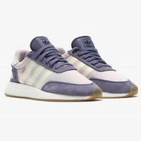 Adidas Iniki Runner Boost Purple/Beige Trending Women Personality Running Sports Shoes Sneakers I