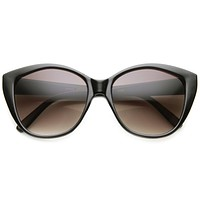 Women's Retro 1950's Indie Fashion Cat Eye Sunglasses 9582