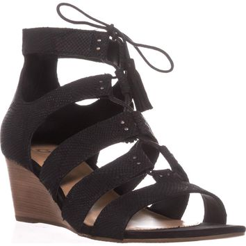UGG Australia Yasmin Snake Wedge Gladiator Sandals, Black, 11 US / 42 EU