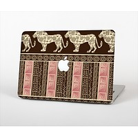 """The Aztec Pink & Brown Lion Pattern Skin Set for the Apple MacBook Pro 15"""""""
