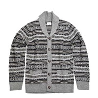 Hartford Men's Fairisle Seater - Grey Sweater - ShopBAZAAR