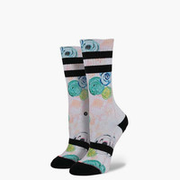 Stance Daisy Daze Womens Crew Socks White Combo One Size For Women 25079316701