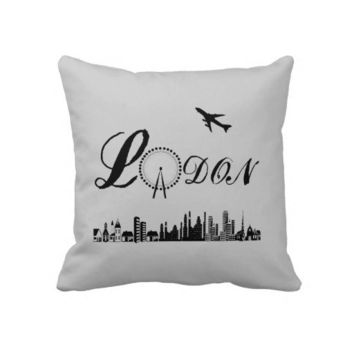 London Eye British Theme Pillow/Cushion from Zazzle.com