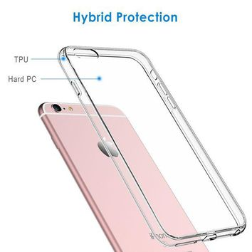 DCCK2JE JETech Case for Apple iPhone 6 and iPhone 6s, Shock-Absorption Bumper Cover, Anti-Scratch Clear Back, HD Clear