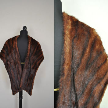 1920/30 Real Mink Stole by Levin's Fur of by WayfaringMagnolia