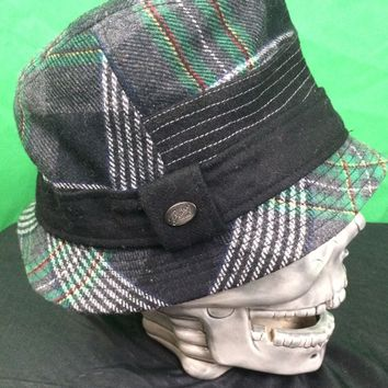 BAILEY OF HOLLYWOOD Women's Black Green WOOL Blend Bucket HAT SIZE Medium