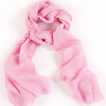Rose Pink 100% Cashmere Scarf