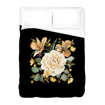 Evening Rose Duvet Cover