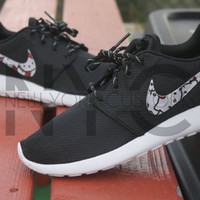Nike Roshe Run Black White Hello Kitty Custom Men & Women