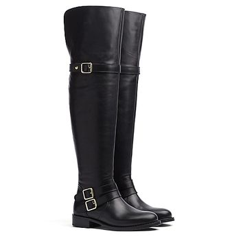 OVER-THE-KNEE LEATHER BOOT | Tommy Hilfiger