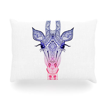 "Monika Strigel ""Rainbow Giraffe"" Oblong Pillow"