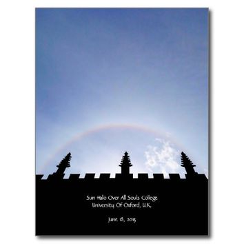 Solar Halo Over All Souls College Oxford UK Postcard