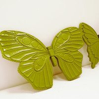 spring butterflly wall hanging set  // upcycled home by nashpop