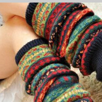 Leg Warmers, Aztec Leg Warmers, Crochet Knit and Lace Boot Toppers,Yoga Socks. Assorted color & style options available.