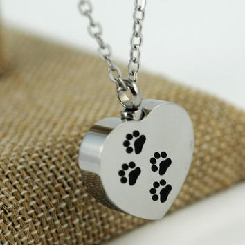 Necklace Urn for Pet Dog Ashes #59 (B) (A)