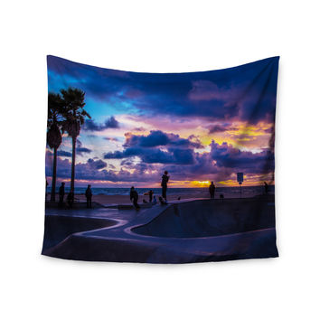 """Juan Paolo """"Dogtown"""" Multicolor Blue Wall Tapestry"""