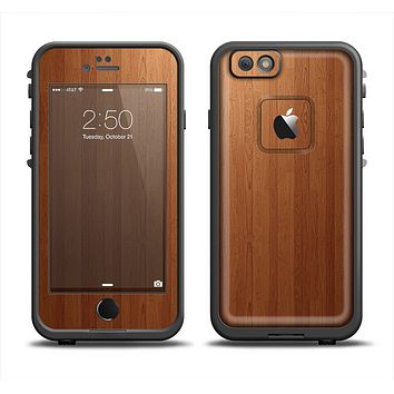The Straight WoodGrain Apple iPhone 6/6s LifeProof Fre Case Skin Set