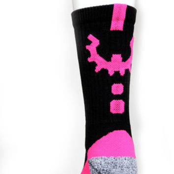 Pink Black Perfomance Workout Socks from WOD Gear