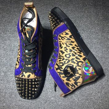 Cl Christian Louboutin Lou Spikes Style #2184 Sneakers Fashion Shoes