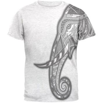 ONETOW Tribal Mosaic Elephant Mens T Shirt