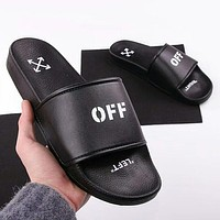 OFF-White Woman Men Fashion Beach Slipper Sandals Shoes