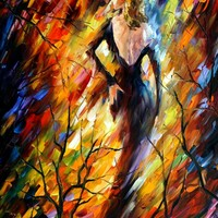 QUEEN OF FIRE — Palette knife Oil Painting on Canvas by Leonid Afremov - Size 40x30. 10% discount coupon - deviantart10off