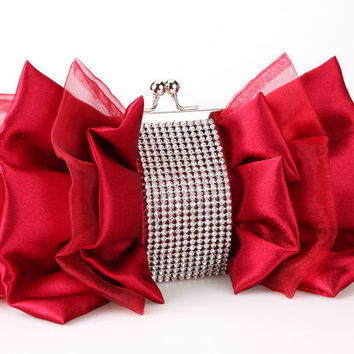 shop silk evening bag on wanelo