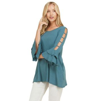 Mabel Double Bell Sleeve Tunic