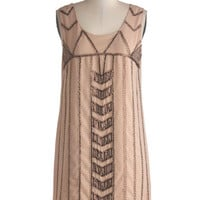 ModCloth Vintage Inspired Mid-length Tank top (2 thick straps) Shift Quite Copacetic Dress