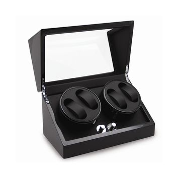Rotations High Gloss Black Finish 4-watch Winder