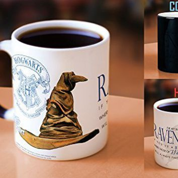 Morphing Mug Harry Potter Sorting Hat Ceramic Mug (Ravenclaw)