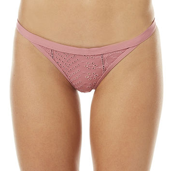 PEONY SWIMWEAR TANGA SEPARATE PANT - DUSTY ROSE