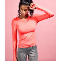 Missguided - Active Long Sleeve Yoga Top Coral