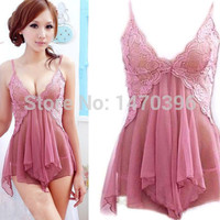 Sexy Babydoll Lingerie Nightgown Sleepwear Nightie Lace Chemise Bridal