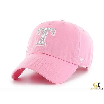 Texas Ranger '47 Brand Adjustable Cap + Crystals - Pink