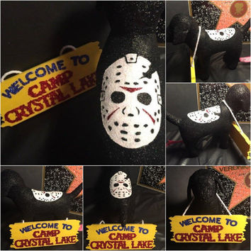 Jason Voorhees Horror Camp Crystal Lake Custom Victoria Secret Dog