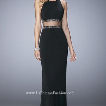 Beaded Jersey Gown by La Femme