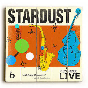 Stardust by Artist Cory Steffen Wood Sign