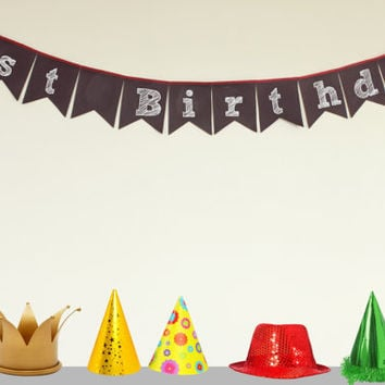 Reusable  Chalkboard Bunting Flags, Create your own message Wedding decor, Reuseable Banner, Birthday fabric bunting, Christmas Decor flags