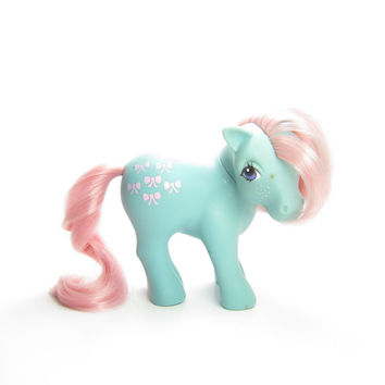 Bow-Tie My Little Pony Vintage G1 Blue Bowtie with Pink Mane & Tail, Bow Ties