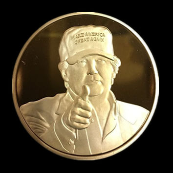 20 pcs/lot, The 2016 New York Candidate Trump gold plated replica souvenir coin