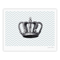 "Suzanne Carter ""Crown"" Blue Black Fine Art Gallery Print"