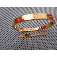 AUTHENTIC CARTIER 18K YELLOW GOLD LOVE BRACELET SIZE 18 WITH BOX