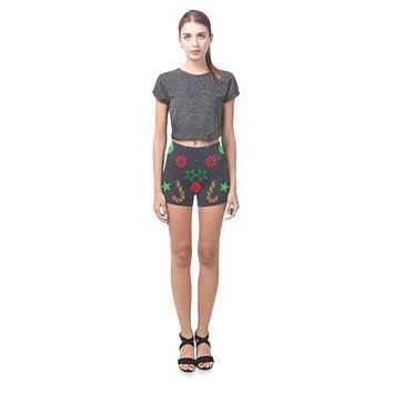 Holiday Cheer All-Over Skinny Shorts (Model L04)
